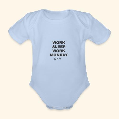 WORK SLEEP Work - Baby Bio-Kurzarm-Body