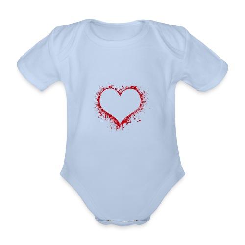 Herz/Heart - Baby Bio-Kurzarm-Body