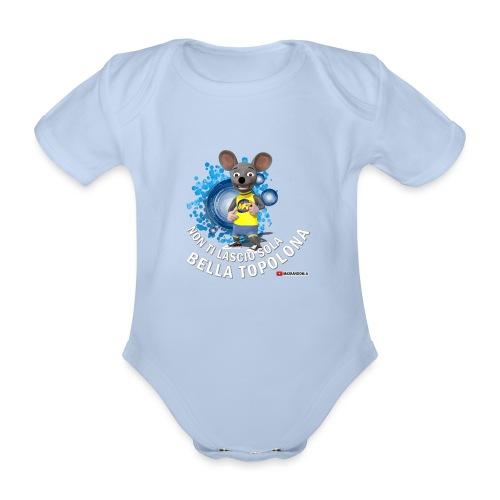 Bella Topolona testo Bianco - Body ecologico per neonato a manica corta