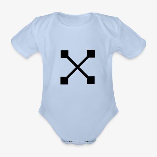 X BLK - Baby Bio-Kurzarm-Body