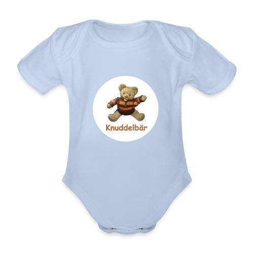 Teddybär Knuddelbär Schmusebär Teddy orange braun - Baby Bio-Kurzarm-Body