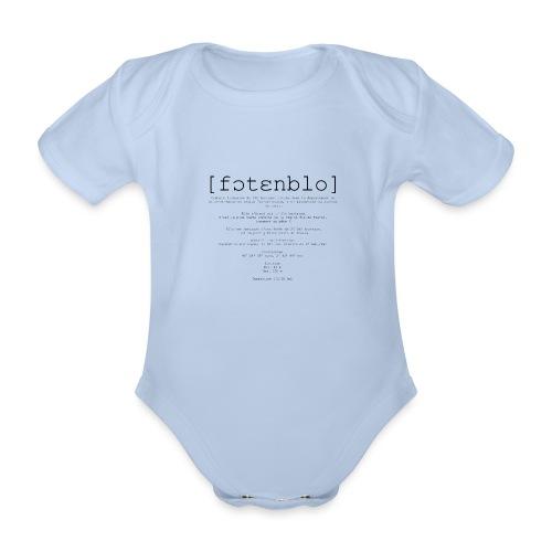 Fontainebleau Phonétique - Body Bébé bio manches courtes