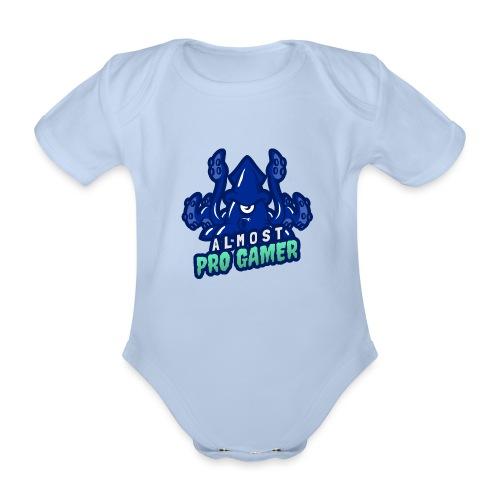 Almost pro gamer BLUE - Body ecologico per neonato a manica corta