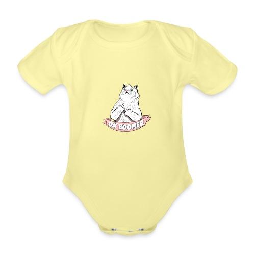 OK Boomer Cat Meme - Organic Short-sleeved Baby Bodysuit