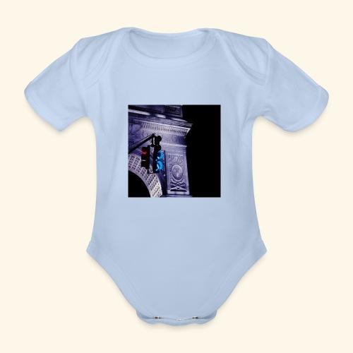 Semaforo americano - Body ecologico per neonato a manica corta