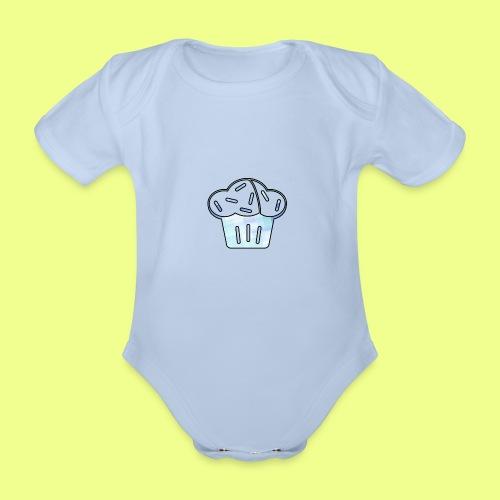 Pastel - Body orgánico de manga corta para bebé