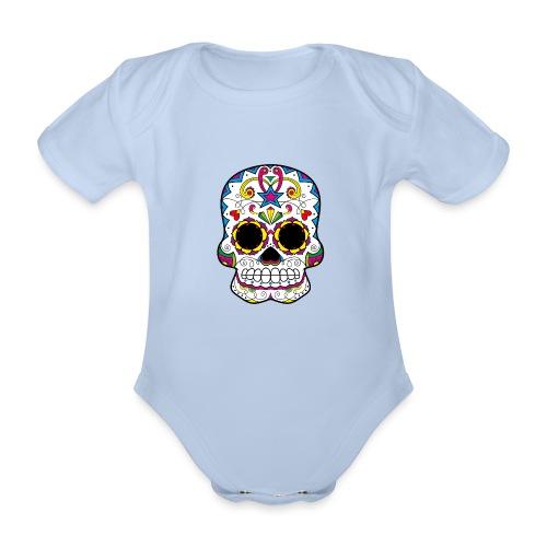 skull7 - Body ecologico per neonato a manica corta