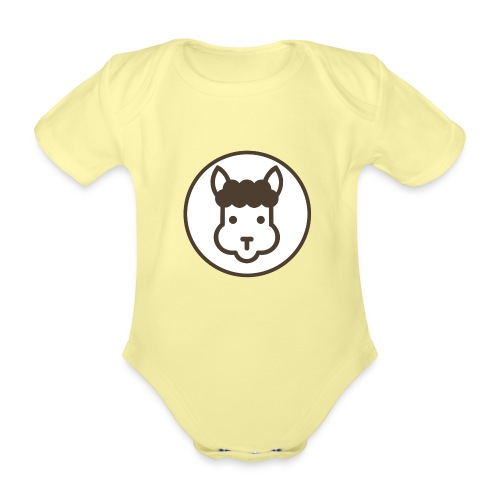 Llamalicious Logo - Kortærmet babybody, økologisk bomuld