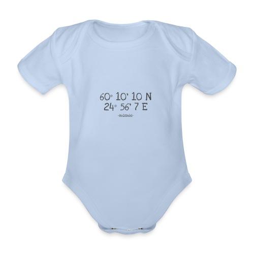 Helsinki Koordinaten - Baby Bio-Kurzarm-Body