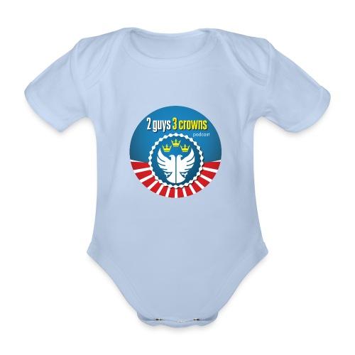 Classic Round 2G3C Logo - Organic Short-sleeved Baby Bodysuit