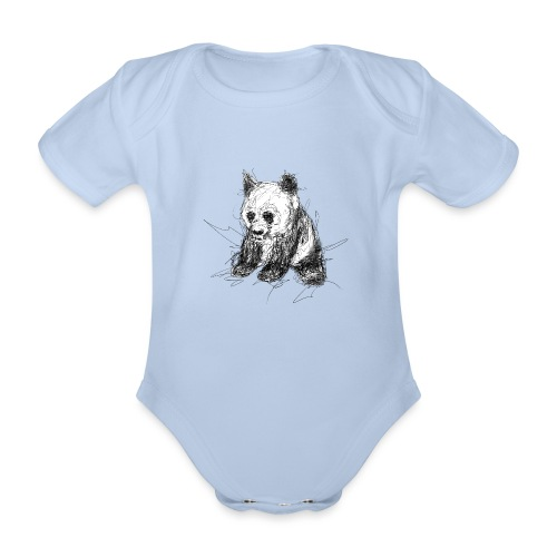 Scribblepanda - Organic Short-sleeved Baby Bodysuit