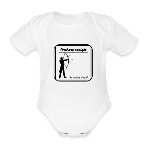 Archery tonight - Vauvan lyhythihainen luomu-body