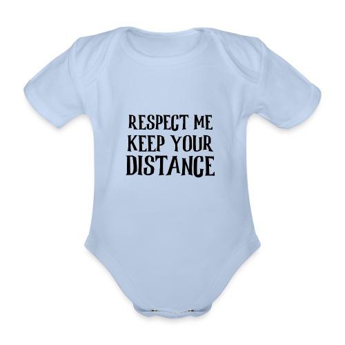 Keep Distance - Kortærmet babybody, økologisk bomuld