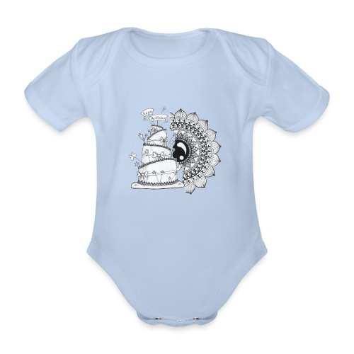 TortaMandala - Body ecologico per neonato a manica corta