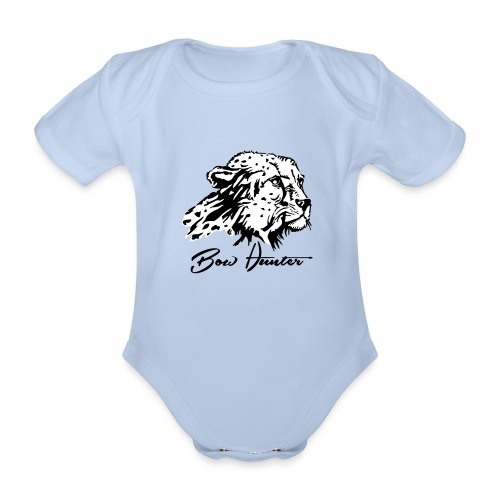 Bow Hunter Gepard 2 färbig - Baby Bio-Kurzarm-Body