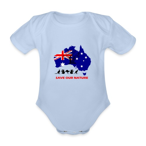 Australien - RETTE LEBEN - JETZT! - Baby Bio-Kurzarm-Body