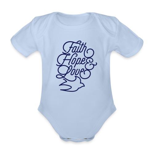 Faith Hope and Love - Baby Bio-Kurzarm-Body