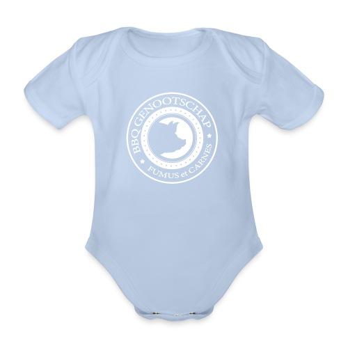 BBQ Genootschap logo shirt (voorkant) - Baby bio-rompertje met korte mouwen