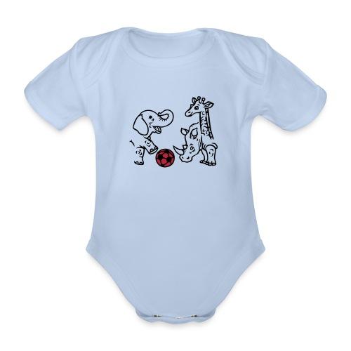 Elefant und Giraffe - Baby Bio-Kurzarm-Body