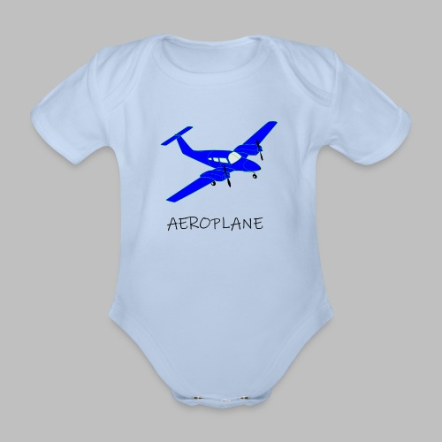 Aeroplane - Organic Short-sleeved Baby Bodysuit