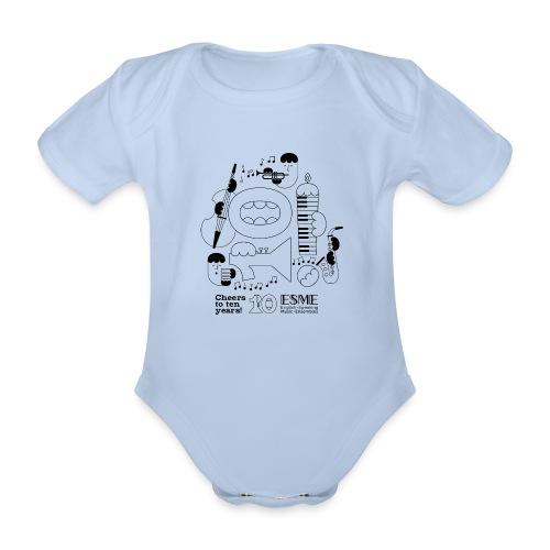 ESME Anniversary Design Schwartz - Baby Bio-Kurzarm-Body