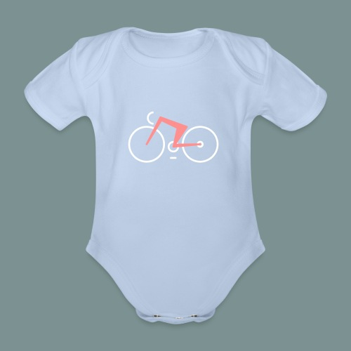 Bikes against cancer - Kortærmet babybody, økologisk bomuld