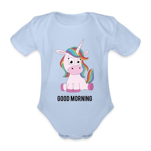 Good morning Unicorn - Baby bio-rompertje met korte mouwen