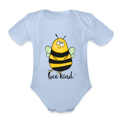 Bee kid - Organic Short-sleeved Baby Bodysuit