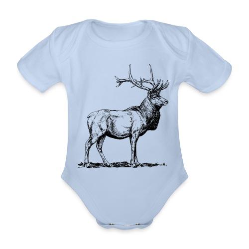 Silueta ciervo real transparente - Body orgánico de manga corta para bebé