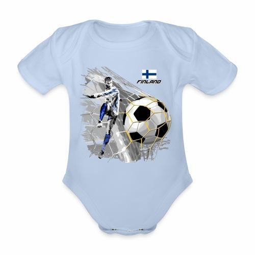 FP22F 05 FINLAND FOOTBALL - Vauvan lyhythihainen luomu-body