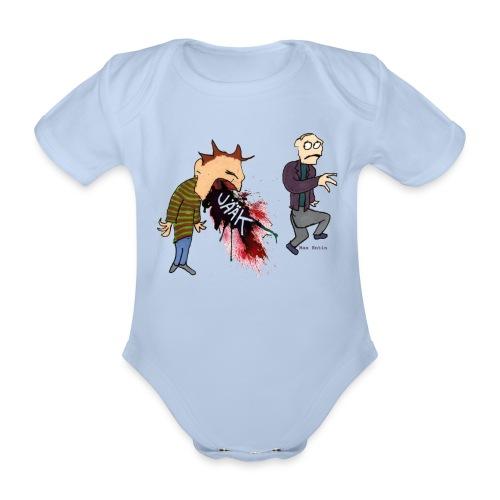 Kräkning - Ekologisk kortärmad babybody