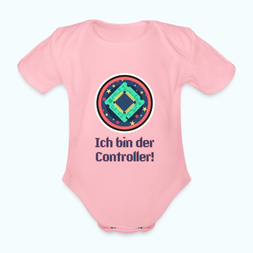 I am the controller - Organic Short-sleeved Baby Bodysuit