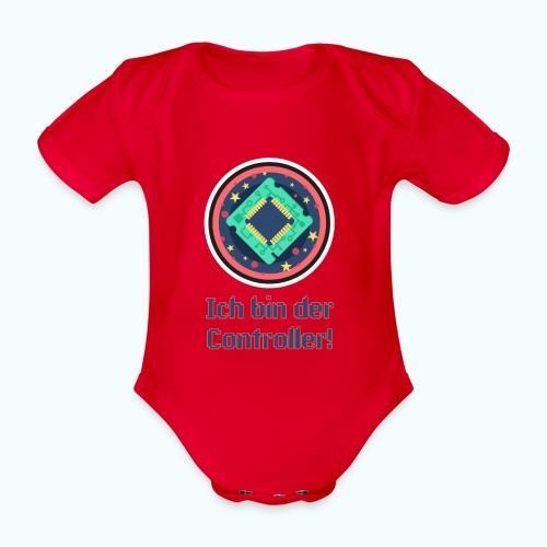I am the controller - Organic Short-sleeved Baby Bodysuit