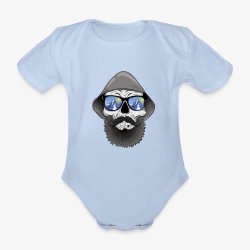 Totenkopf mit sonnenbrille und hut - Baby Bio-Kurzarm-Body