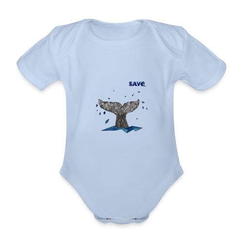 Whale - Baby bio-rompertje met korte mouwen
