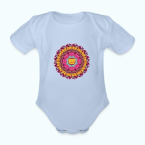 Cool cats - Organic Short-sleeved Baby Bodysuit
