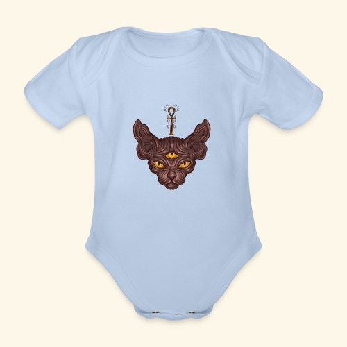 Bastet - Body orgánico de manga corta para bebé