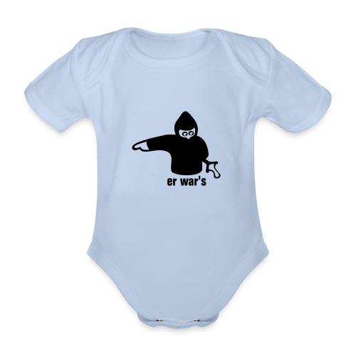 er war's - links - Baby Bio-Kurzarm-Body