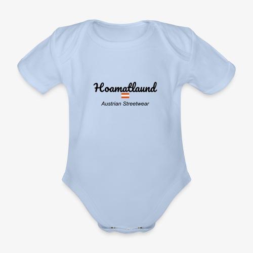 hoamatlaund austrain Streetwear - Baby Bio-Kurzarm-Body