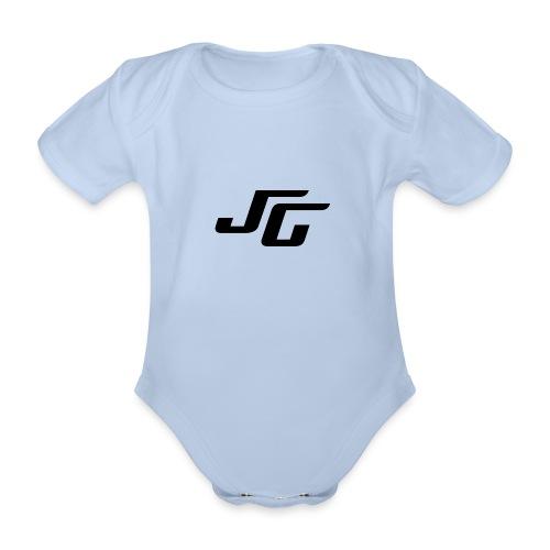 JG Logo schwarz - Baby Bio-Kurzarm-Body