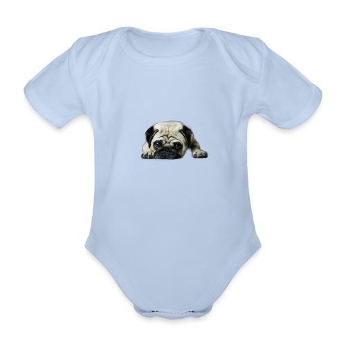 Cute pugs - Body orgánico de maga corta para bebé