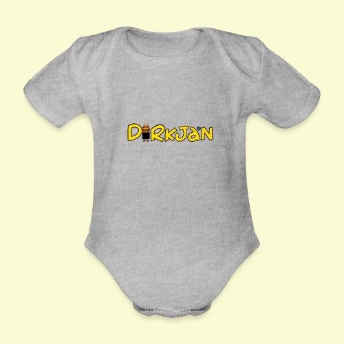 DIRKJAN Logo - Baby bio-rompertje met korte mouwen