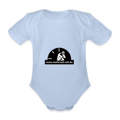 Motorrad Zeit de Logo - Baby Bio-Kurzarm-Body