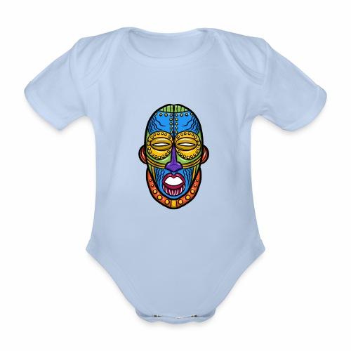 Máscara - Body orgánico de manga corta para bebé