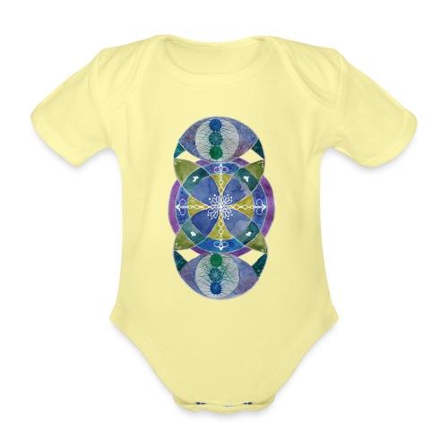 Trebol infinito de Fortuna - Body orgánico de manga corta para bebé