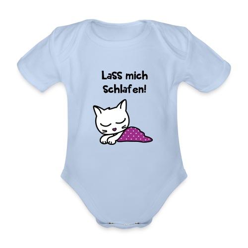 Lass mich schlafen - Baby Bio-Kurzarm-Body