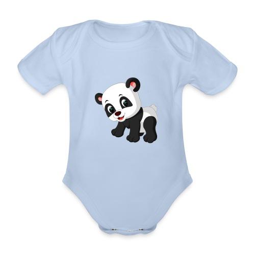 Panda Mignon - Body Bébé bio manches courtes