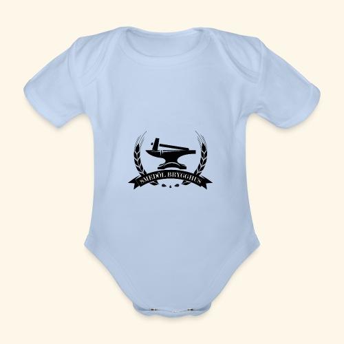 smedolvector svart - Ekologisk kortärmad babybody