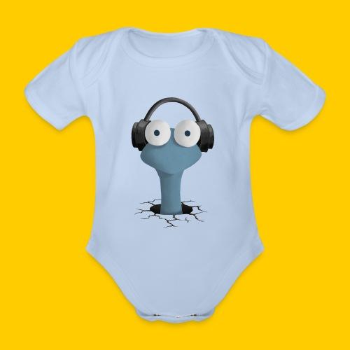 Musicworm - Ekologisk kortärmad babybody