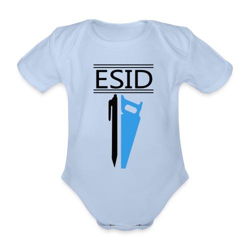 ESID Zwart-blauw - Baby bio-rompertje met korte mouwen